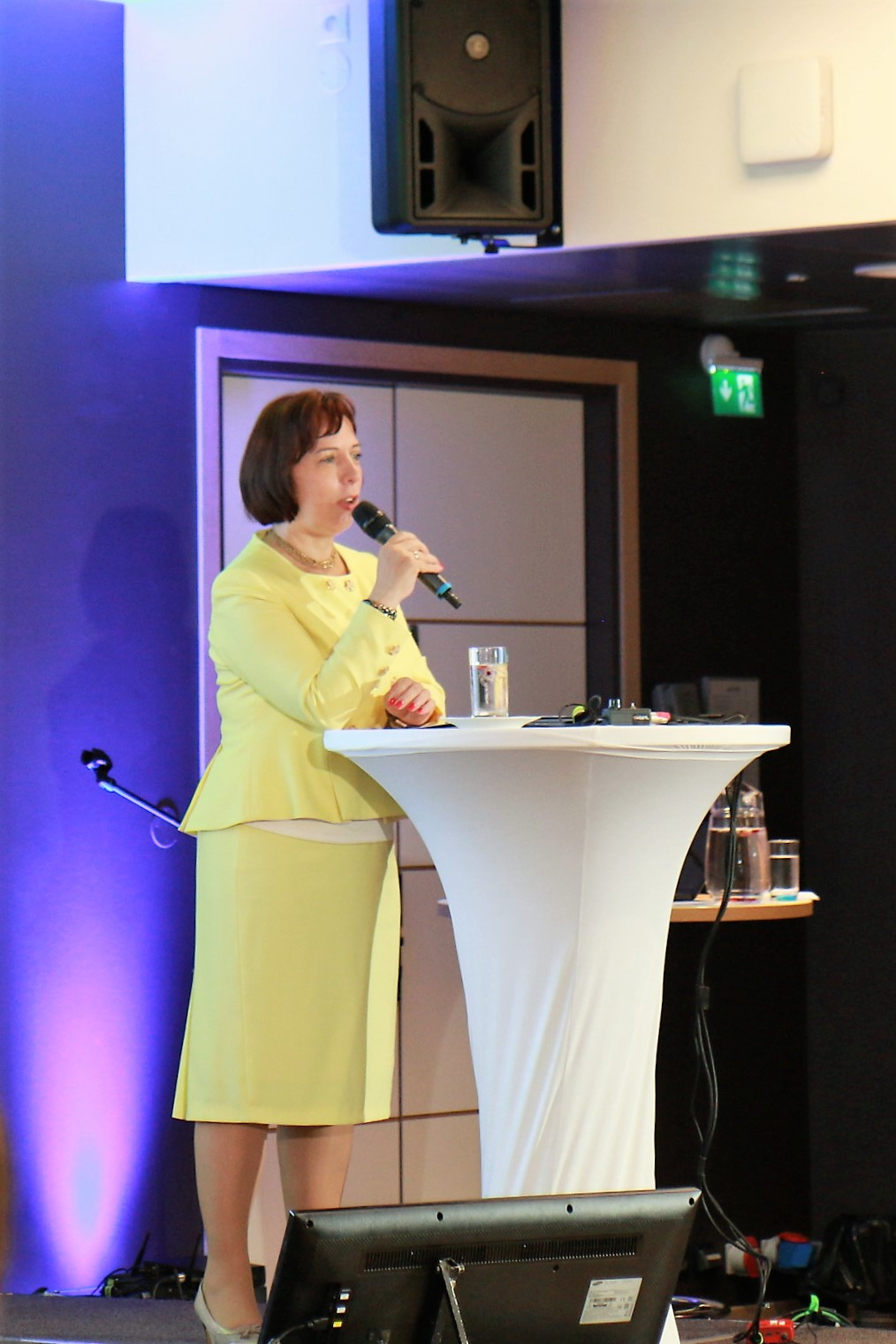 Mailis Reps pidas konverentsi avakõne. Foto autor: Sandra Fomotškin (HTM)