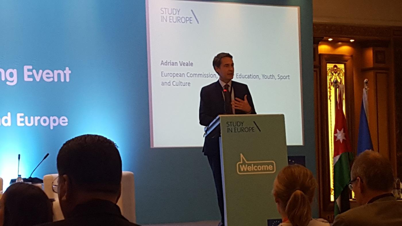 Euroopa Komisjoni esindaja Adrian Veale. Foto: Sihtasutus Archimedes